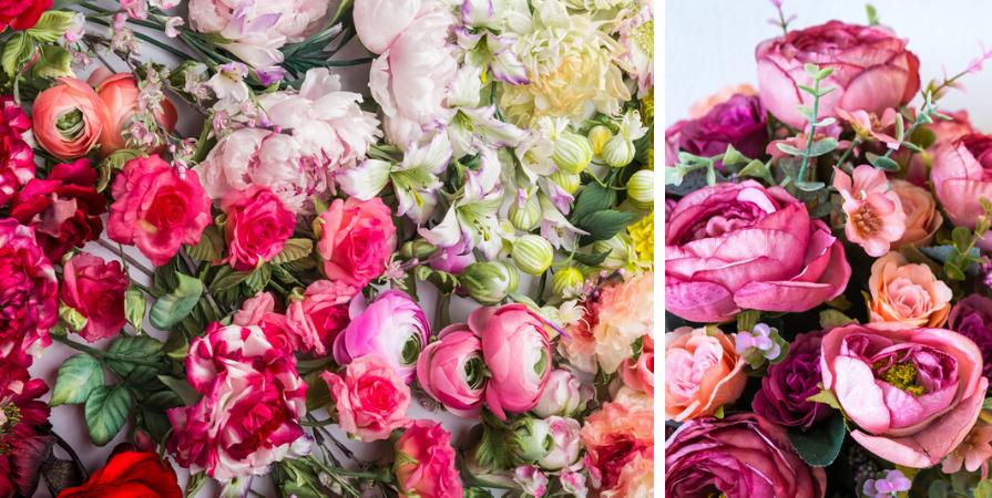 Zijde bloemen en planten Tuincentrum De Carlton