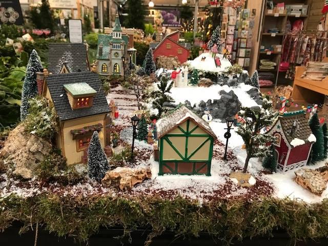 Lemax op de kerstmarkt dichtbij Den Haag